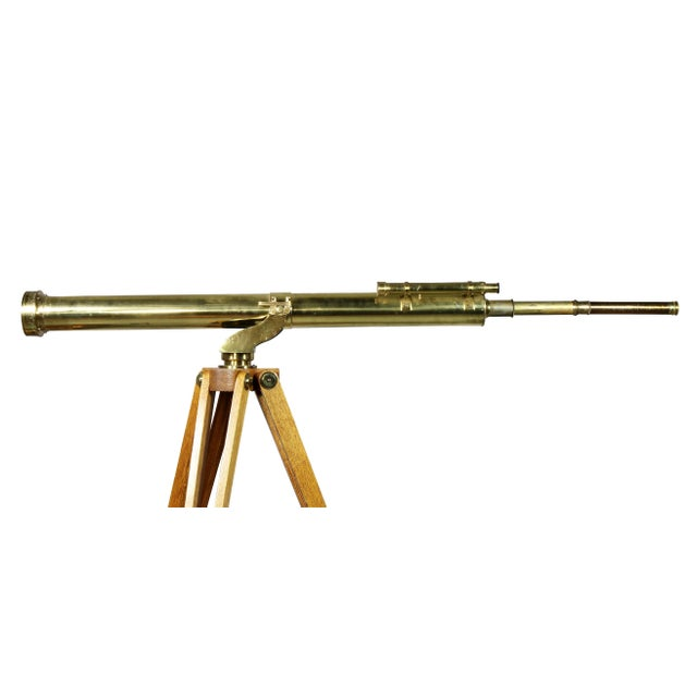Edwardian Brass Telescope on Stand by J.H.Steward For Sale - Image 4 of 11