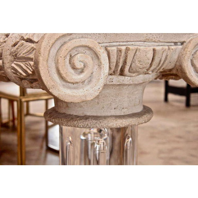 18th Century Granite Top Column with Plexi Base For Sale - Image 4 of 9