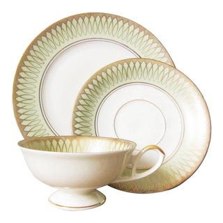20th Century Art Deco Bavaria Tea Cup and Saucer Set - 3 Pieces For Sale