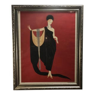 """Art Nouveau """"Glamour"""" Erte' Print For Sale"""