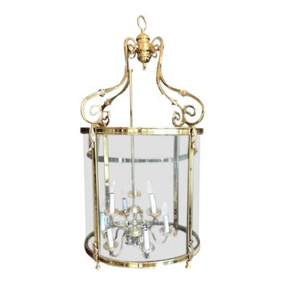 Antique Style Large Brass Lantern For Sale