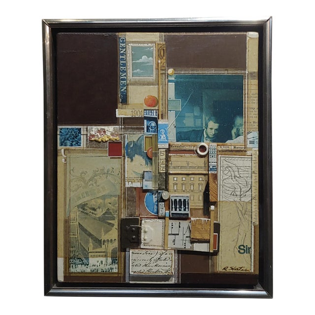 Roderick Slater -One to Nine - Mixed Media Collage Painting For Sale
