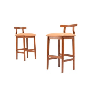 Danish Modern Teak Bar Stools - a Pair For Sale