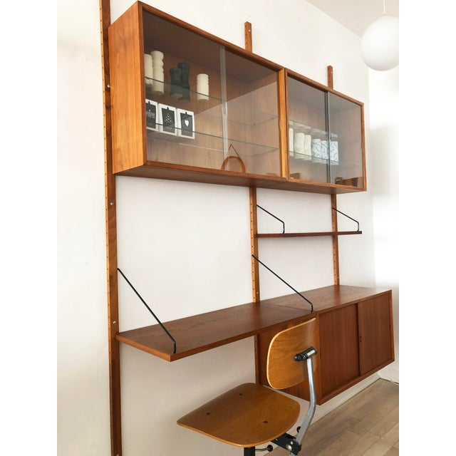 Poul Cadovius 1960s Danish Modern Paul Cadoviu Teak 2-Bay Wall Shelving For Sale - Image 4 of 7