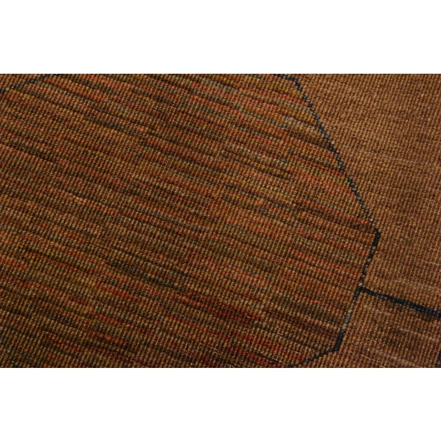 Textile Overdyed Color Reform Donnie Brown/Blue Area Rug - 5'11 X 8'6 For Sale - Image 7 of 8