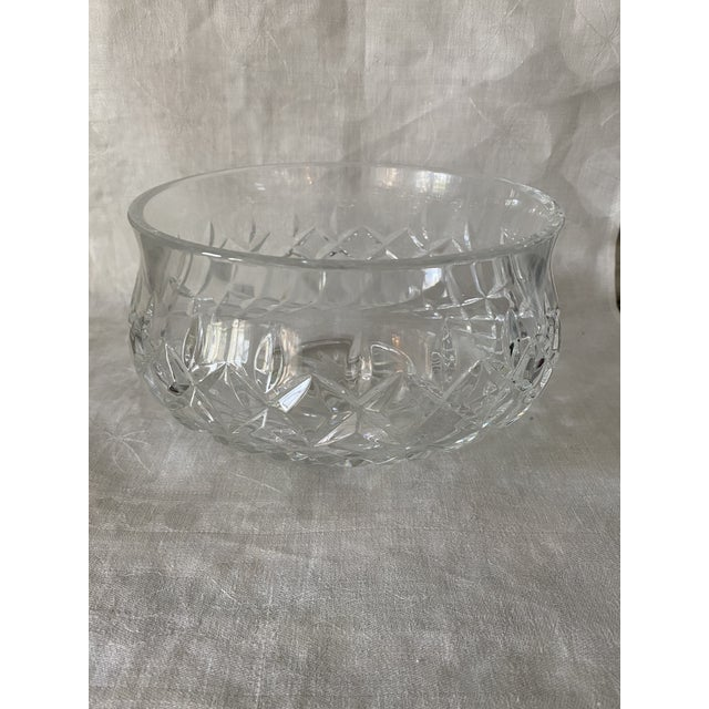 Transparent Waterford Crystal Footed Bowl, Lismore Pattern For Sale - Image 8 of 8