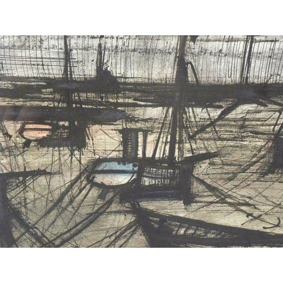 Vintage French Expressionist Bernard Buffet Lithograph For Sale In New York - Image 6 of 9