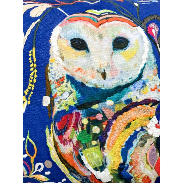 Anthropologie Starla Michelle Halfmann Owl Pillow - Image 5 of 9