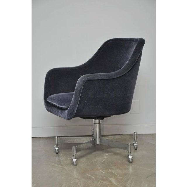 Ward Bennett Desk Chair in Mohair - Image 2 of 7