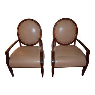 J. Robert Scott Art Deco Fauteuil Chairs - A Pair For Sale