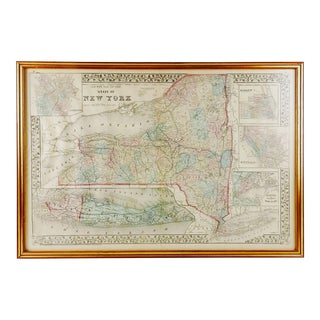 1876 County Map of New York For Sale