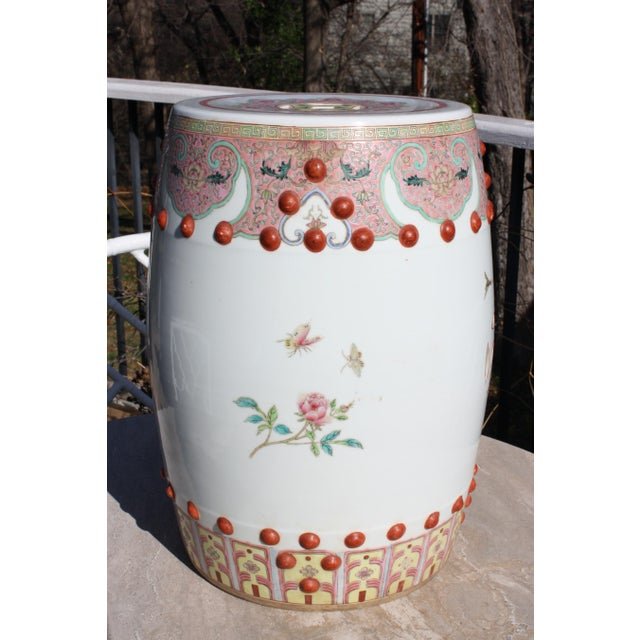 Chinese Famille Rose Porcelain Peacock Garden Seat For Sale - Image 4 of 13