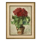 Image of 1930s French Still Life Watercolor For Sale
