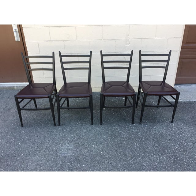 Mid-Century Italian Dining Side Chairs - Set of 4 For Sale - Image 11 of 11