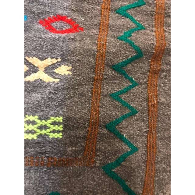 Moroccan Hand-Loomed Wool Pillow Cases - A Pair For Sale In New York - Image 6 of 7