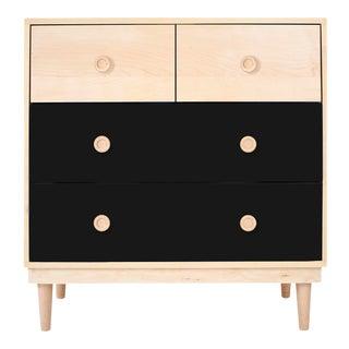 Nico & Yeye Lukka Modern Kids 4 Drawer Dresser Maple Black For Sale