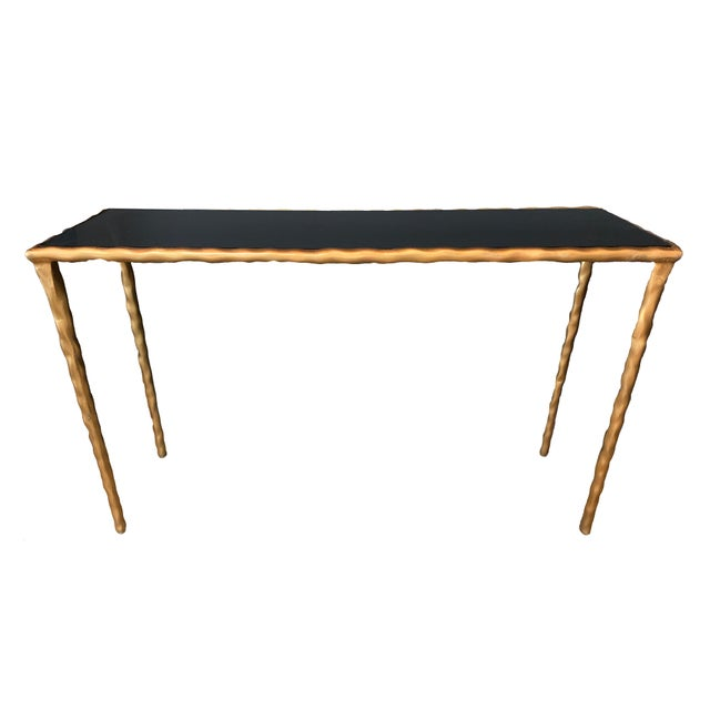 Jamie Young Art Deco Style Simple Black Console For Sale - Image 4 of 4