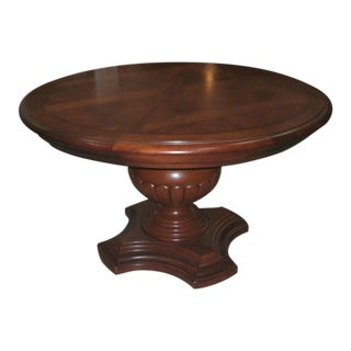 Thomasville British Gentry Bloomsbury Round Pedestal Dining Table For Sale