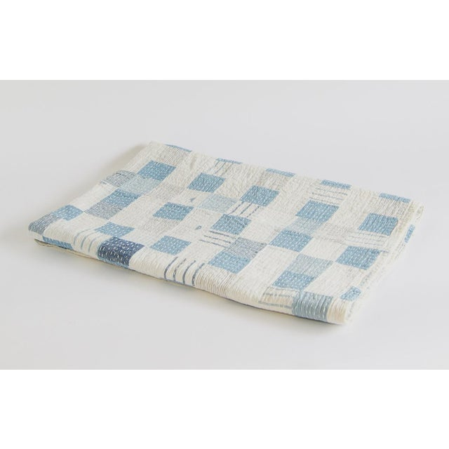 Textile Boro Patchwork Quilt Throw Blanket For Sale - Image 7 of 7