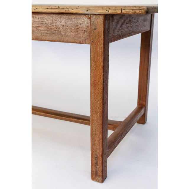 Faux-Grain Painted French Farm Table For Sale - Image 12 of 13