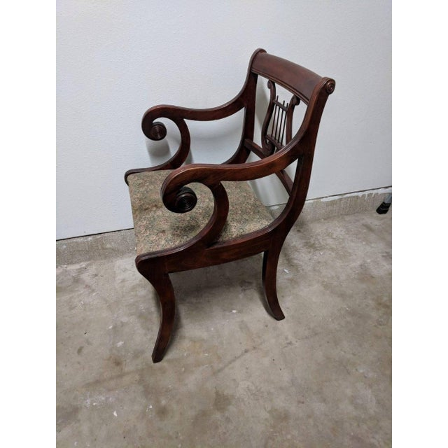 1950s 1940s Americana Lyre Dining Chairs - Set of 6 For Sale - Image 5 of 7