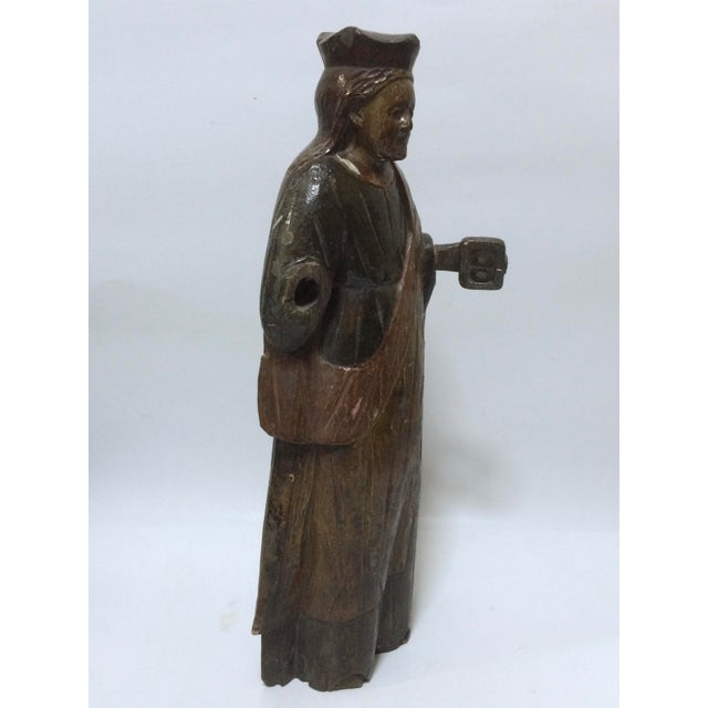 19th Century Carved Wood Religious Sculpture of Saint Agatha - Image 4 of 6