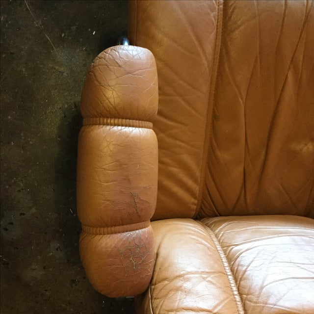 Ekrone Stressless Leather Recliner & Ottoman - Image 8 of 9
