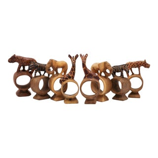 Exotic Animal Napkin Rings - Set of 8 For Sale