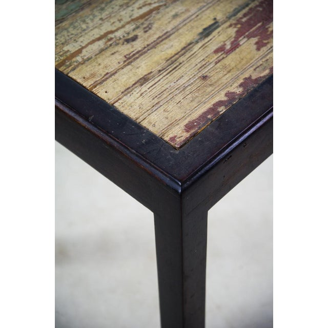 Recycled/Repurposed Rustic Reclaimed Wood Side Table For Sale - Image 7 of 10