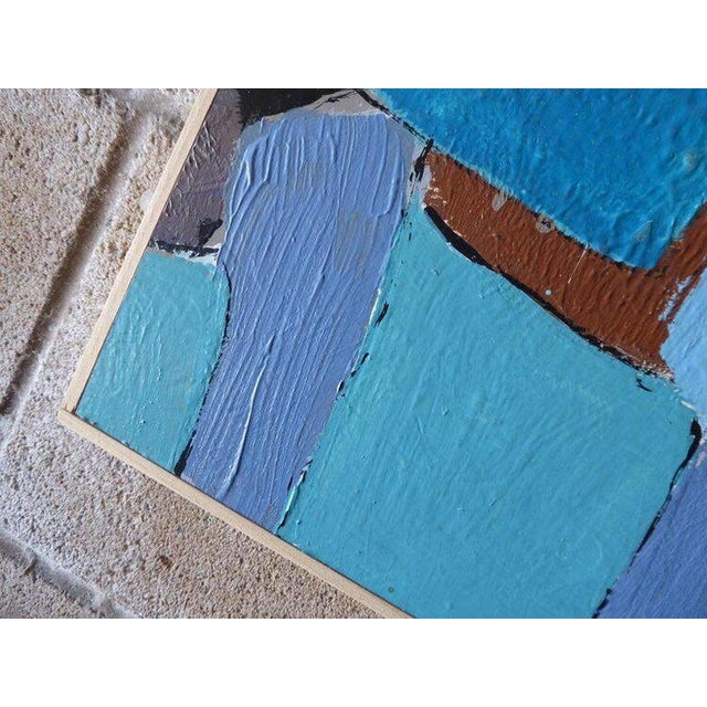 "Wood ""Carrés Et Couch De Couleur"" an Original Contemporary Painting by American Artist Kenneth Joaquin For Sale - Image 7 of 13"