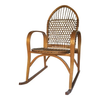 1950s Boho Chic Vermont Tubbs Oak 'Sno-Shu Chair'