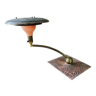 Atomic Saucer Desk Lamp By Wheeler For Sale