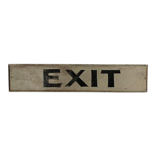 C1940s Wood Exit Sign For Sale