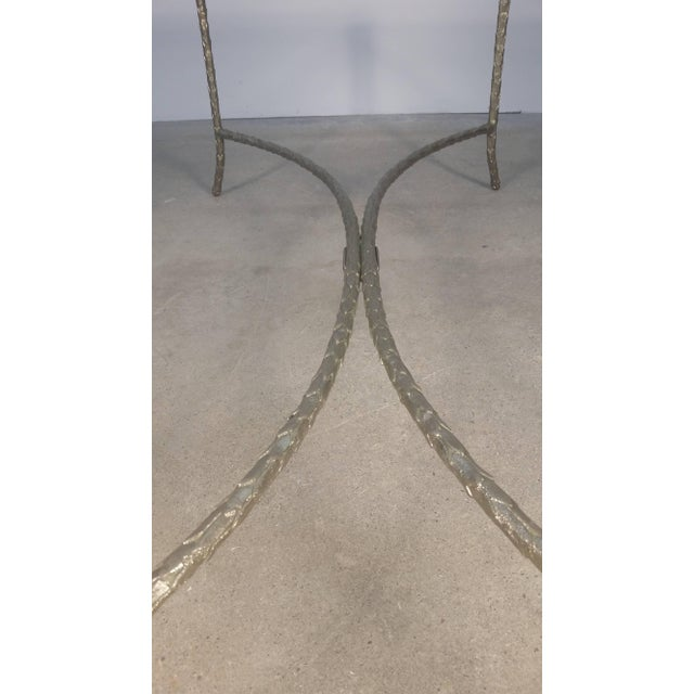 Large Silvered Bronze Cocktail Table by Maison Baguès For Sale - Image 8 of 9