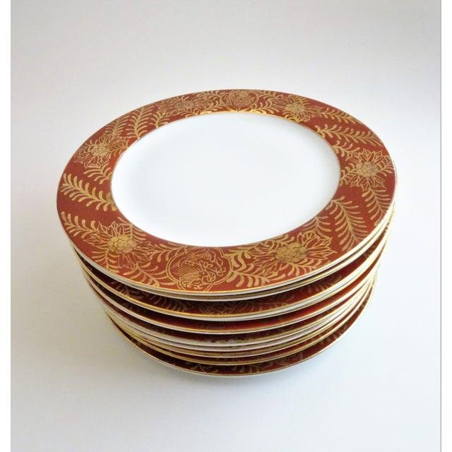 Vintage Imari Vermilion Red & Gold Serving Plates - Set of 10 For Sale - Image 11 of 11