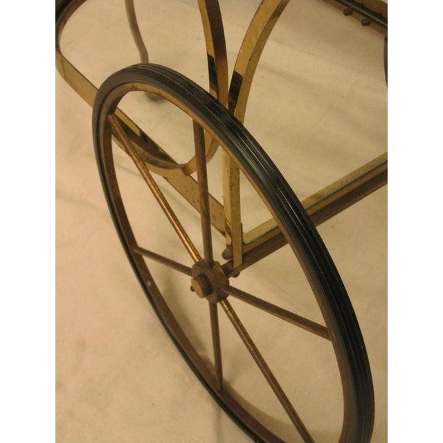 Deco Brass Bar Cart - Image 7 of 10