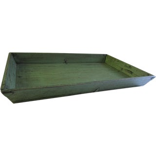Green Chinese Lacquered Tray For Sale