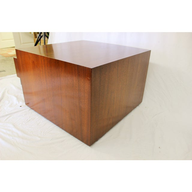 Milo Baughman Style Cube Coffee Table - Image 2 of 7