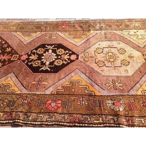 1940s Vintage Anatolian Rug - 5′3″ × 13′4″ For Sale - Image 5 of 6