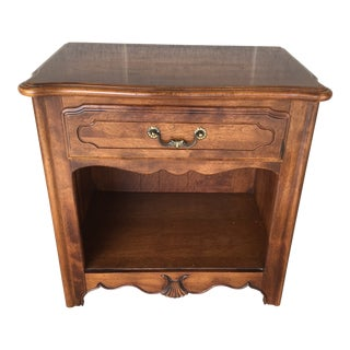 Ethan Allen Country French Single Drawer Nightstand For Sale
