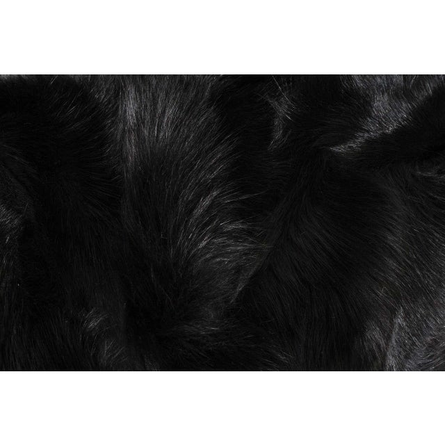 Modern Genuine Double-Sided Black Fox Pillows For Sale - Image 3 of 5