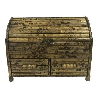 Vintage Bamboo Storage Box