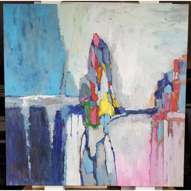 2010s Original Acrylic Abstract Landscape Painting For Sale - Image 5 of 5