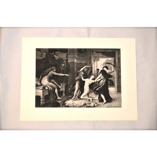 "Adolphe Weber ""Psyche Whipped by Order of Venus"" 1884 Print For Sale - Image 6 of 8"