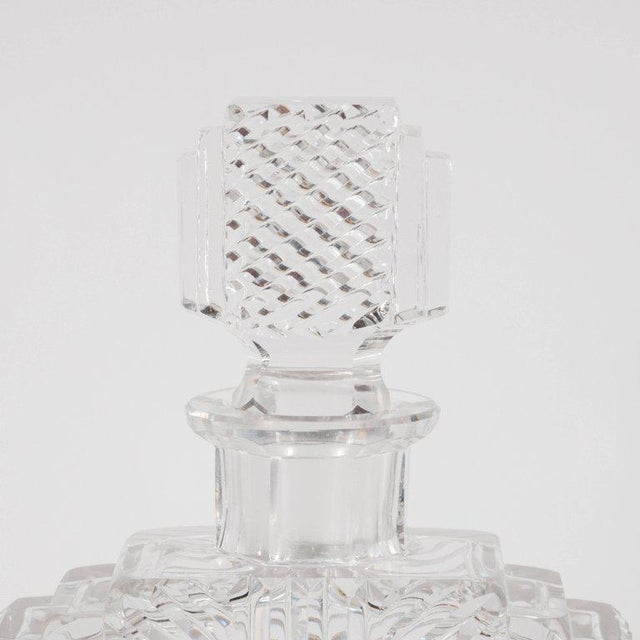 Crystal Exquisite Skyscraper Style Crystal Art Deco Hand-Cut & Beveled Crystal Decanter For Sale - Image 7 of 11