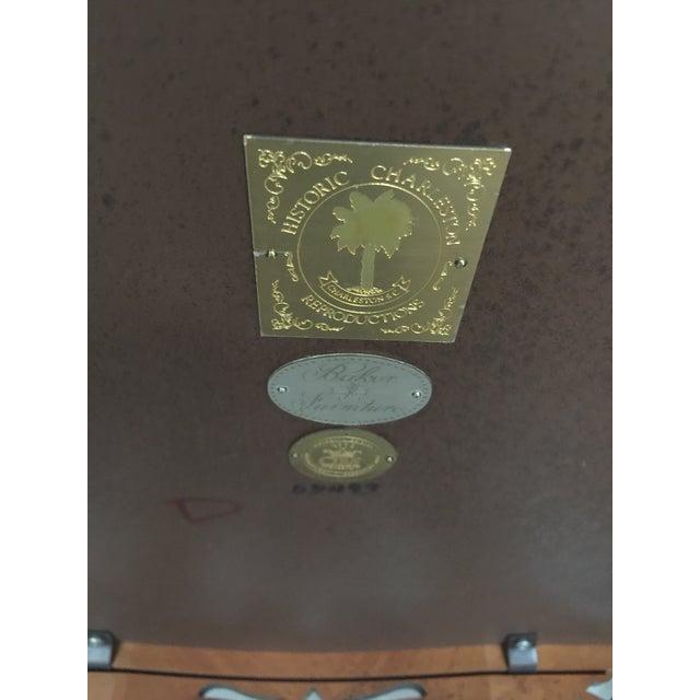 Brown Baker Furniture Drop Leaf Table Pembroke Table Historic Charleston For Sale - Image 8 of 9
