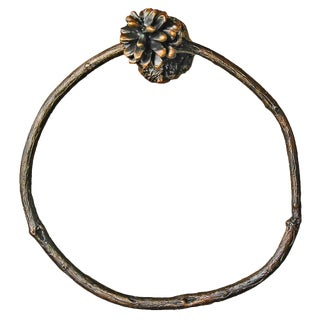 Lodgepole Pine Cone Towel Ring, Traditional Patina For Sale