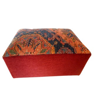 Custom made Ottoman W/ Antique Sumak