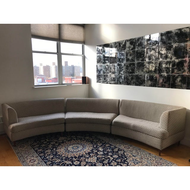 Contemporary Curved Keller-Williams Vintage Mid Century Sectional Sofa - 3 Pieces For Sale - Image 3 of 9