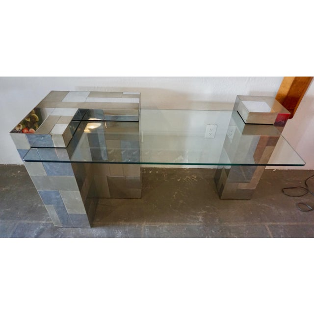 """Mid-Century Modern Paul Evans """"Cityscape"""" Desk or Console For Sale - Image 3 of 8"""